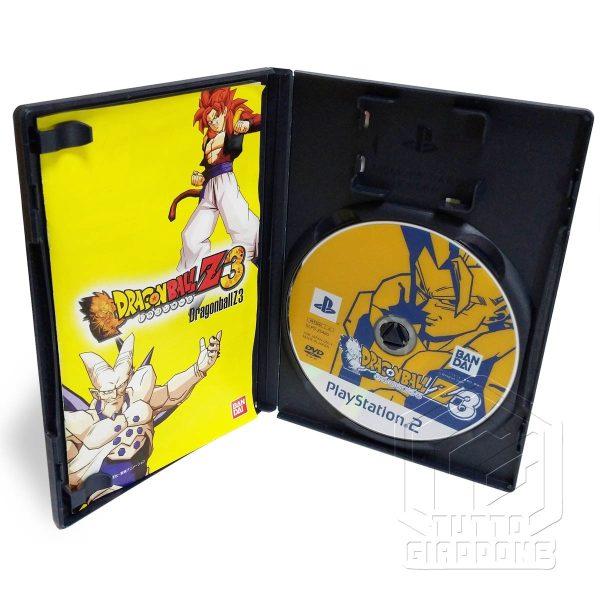 Dragon Ball Z 3 PS2 DVD aperto tuttogiappone